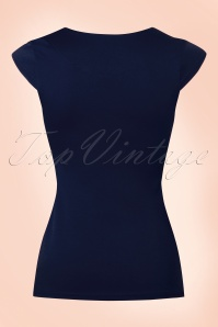 Steady Clothing Solid Sweatheart Top in Navy 110 31 20876 20170131 0004w