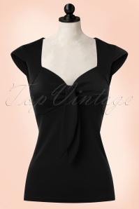 Steady Clothing Solid Sweatheart Top in Black 110 10 20770 20170131 0003wdoll