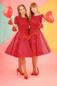 Dolly and Dotty Darlene 50's Red Polkadot Swing Dress 102 27 18773 20160330 2W