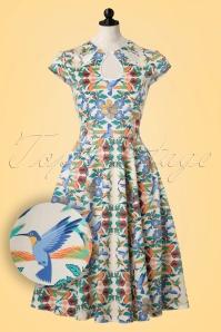 Dancing Days by Banned Mandala Floral Bird Swing Dress 102 57 20920 20170201 0017popW