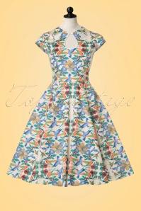 Dancing Days by Banned Mandala Floral Bird Swing Dress 102 57 20920 20170201 0004 pop