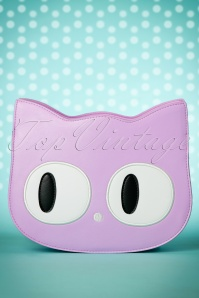 60s Addis The Big Eyed Cat Bag in Lila