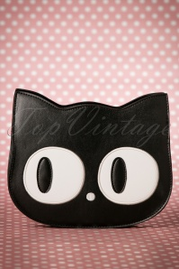 Banned Alternative 60s Addis The Big Eyed Cat Bag in Black
