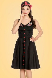 Bunny Lulu Floral Black Dress 102 10 21075 20170202 001