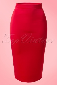Vintage Chic Red Scuba Pencil Skirt 120 20 14917 20150215 0003W