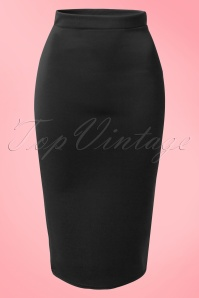 Vintage Chic Red Scuba Pencil Skirt 120 20 14917 20150215 0003W2