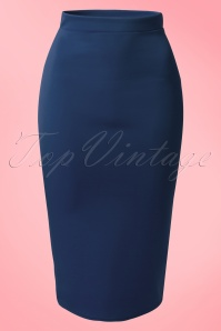 Vintage Chic Red Scuba Pencil Skirt 120 20 14918 20150215 0003W