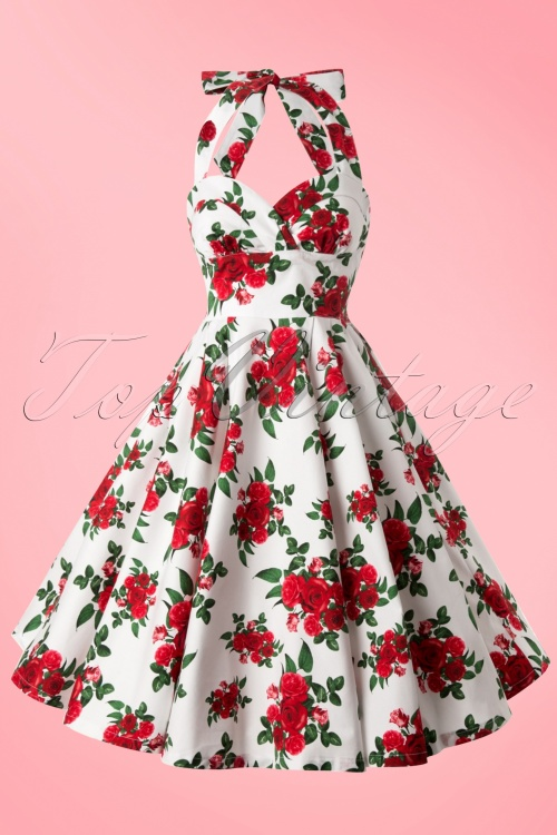3542f716faef Bunny Halter Swing Dress with Roses 102 59 10972 20140616 0007