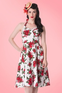 Bunny Halter Swing Dress with Roses 102 59 10972 20140616 0004a