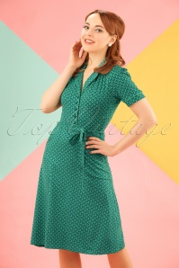 60s Bibi Icono Dress in Opal Green