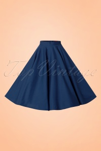 Bunny Navy Blue Swing Skirt 122 31 12050 20140601 004w
