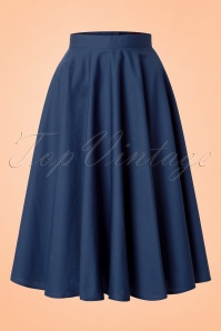50s Paula Swing Skirt in Navy