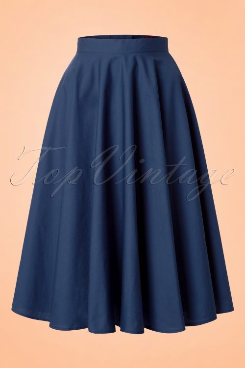 Bunny Navy Blue Swing Skirt 122 31 12050 20140601 001w