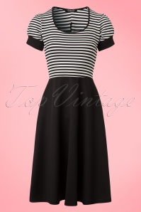 Vintage Chic Black and White Striped Dress 102 10 21008 20170203 0002W