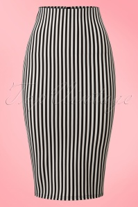 Vintage Chic  TopVintage Exclusive Black White Striped Pencil Skirt 120 59 21026 20170203 0002w