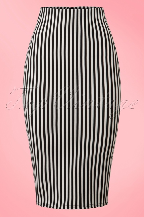 Vintage Chic  TopVintage Exclusive Black White Striped Pencil Skirt 120 59 21026 20170203 0002w