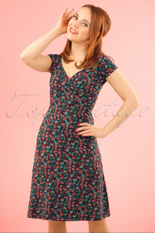 King Louie Gina Dress with Flowers  106 39 20194 20170110 0008wModelfotoW