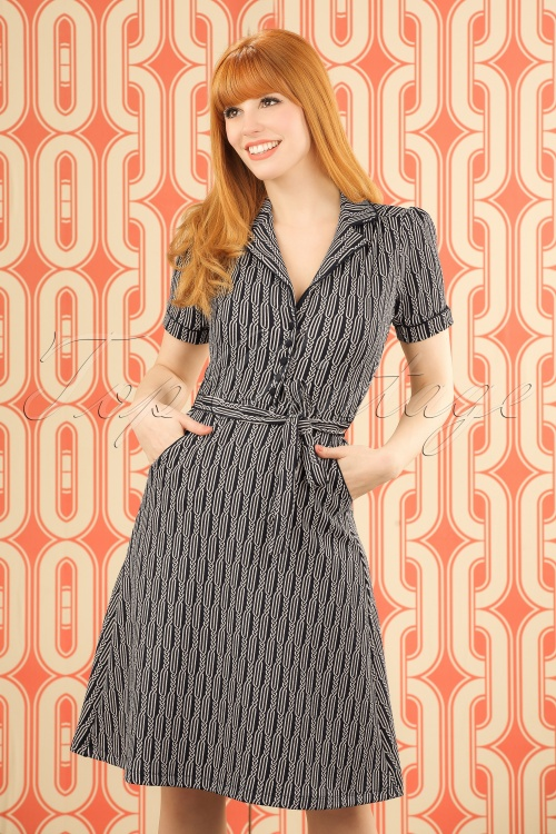 King Louie Bibi Dress Dark Navy  102 39 20171 20170119 0010WMODELFOTOw