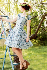 Blutsgeschwister Bloomy Pluckily Mary Foral Dress 102 59 19677 20170206 1