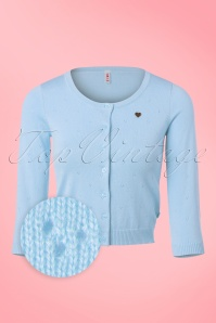 60s Lola Logo Cardigan in Heavenly Blue
