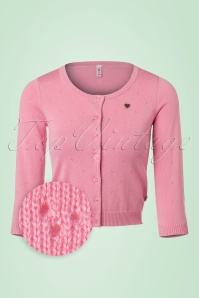 60s Lola Logo Cardigan in Tender Rose