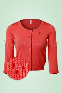 60s Lola Logo Cardigan in Lady in Red