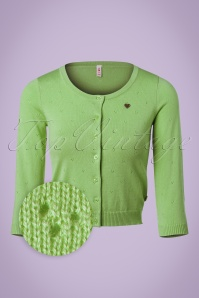 60s Lola Logo Cardigan in Profound Green