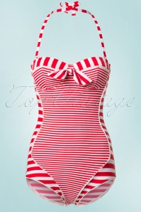 Bellissima Red and White Striped Bathing Suit 161 27 21177 20170207 0003W