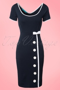 60s Joan Marine Dress in Navy