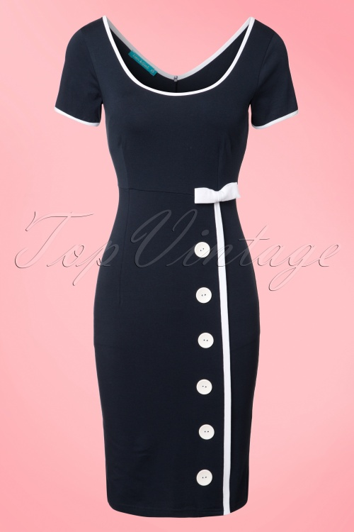 Lien & Giel Marine Blue Sailor Navy Joan Dress 100 30 19939 20170208 0002W
