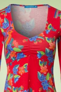 Lien & Giel Parrot Geranium Suuz Dress 106 27 19936 20170208 0002W