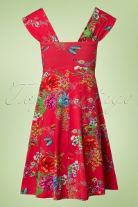 Lien & Giel Butterfly Gera Amy Floral Red Dress 102 27 19935 20170208 0001W
