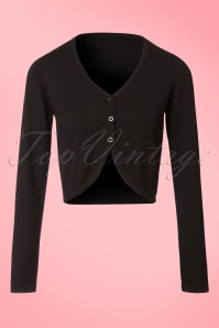 50s St. Lucia Cashmere Cardigan in Black