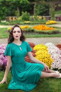 Zoe Vine Scarlet Blue Swing Dress  102 40 20149 20170203 004W