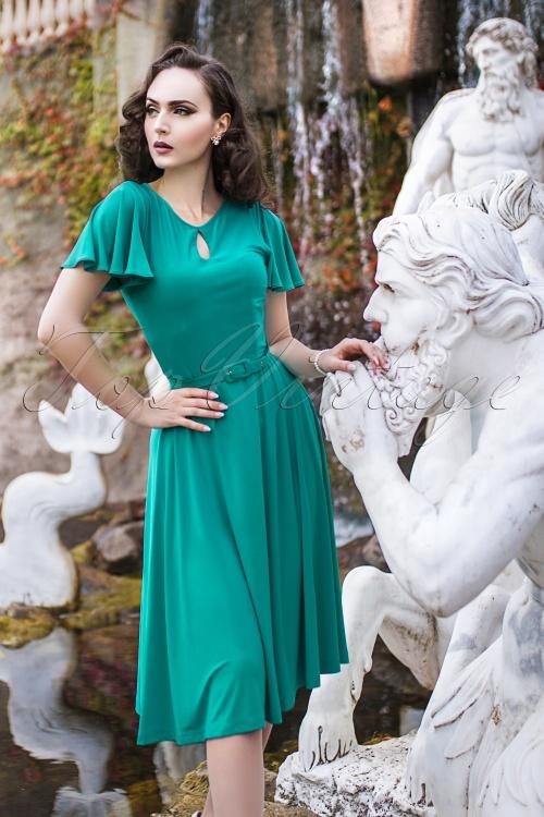 Zoe Vine Scarlet Blue Swing Dress  102 40 20149 20170203 003W