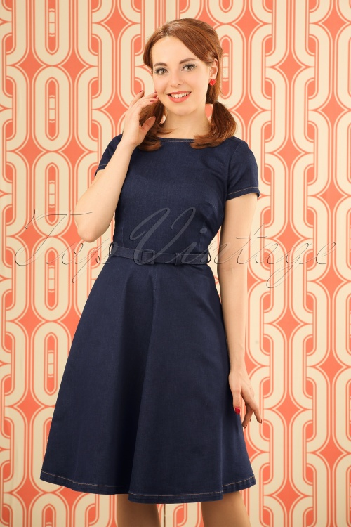 King Louie Dutch Blue Bettie Dress 102 30 19657 20170118 001W