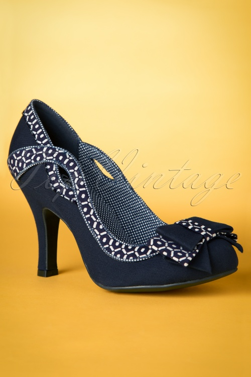 Ruby Shoo Ivy Pumps in Blue 400 30 19805 20170207 0007w
