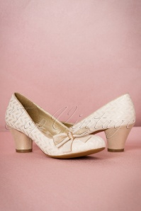 Ruby Shoo Lily Pumps in Cream 400 51 19816 20170207 0010W