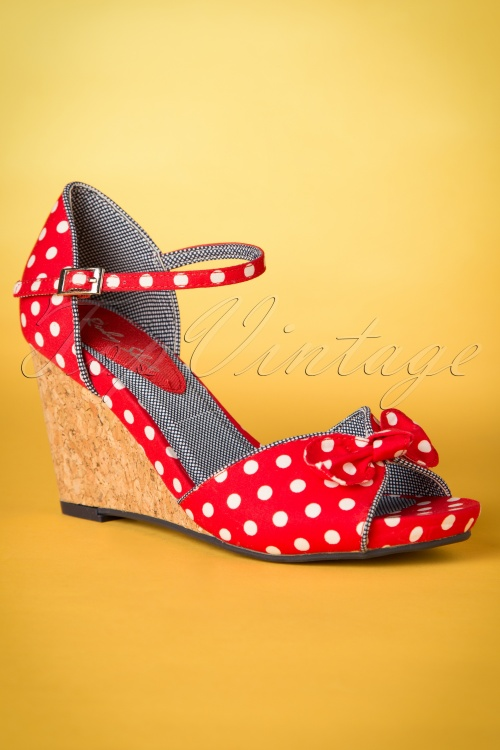 Ruby Shoo Molly Pumps Red Spots 409 27 19818 20170207 0009W