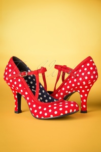 Ruby Shoo Jessica T Strap Red Spots 401 27 19809 20170207 0023w