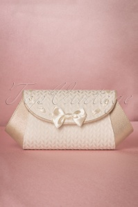 Ruby Shoo 50s Palma Clutch in Cream