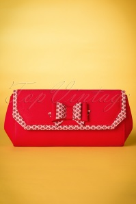 60s Brighton Clutch in Red
