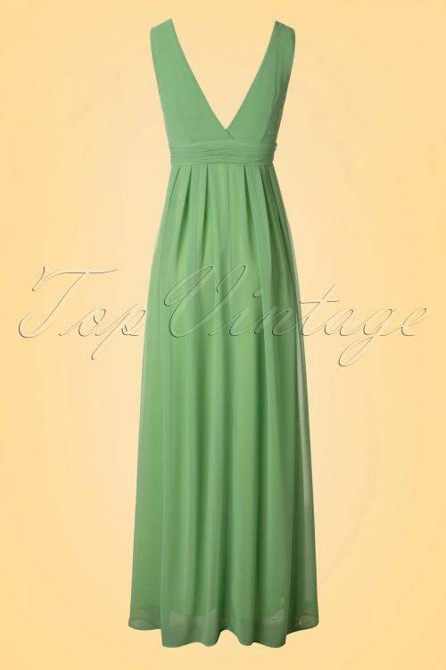 70s Kristin Maxi Dress in Opal Green