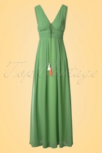 70s Kristin Maxi Dress in Opal Green