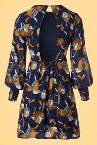 Traffic People Navy Floral 60s Dress 106 39 19872 20170210 0010W
