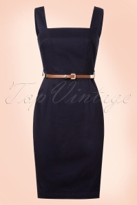 Yumi Blue Navy Dress 100 30 20143 20170206 0005W