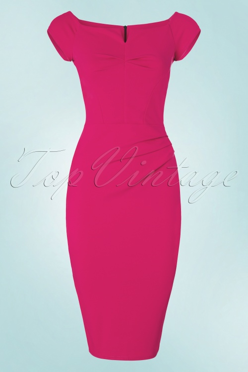 Vintage Chic Turquois Pencil Dress 100 32 21006 20160708 0007W