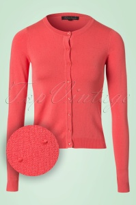 50s Droplet Cardigan in Rusty Pink