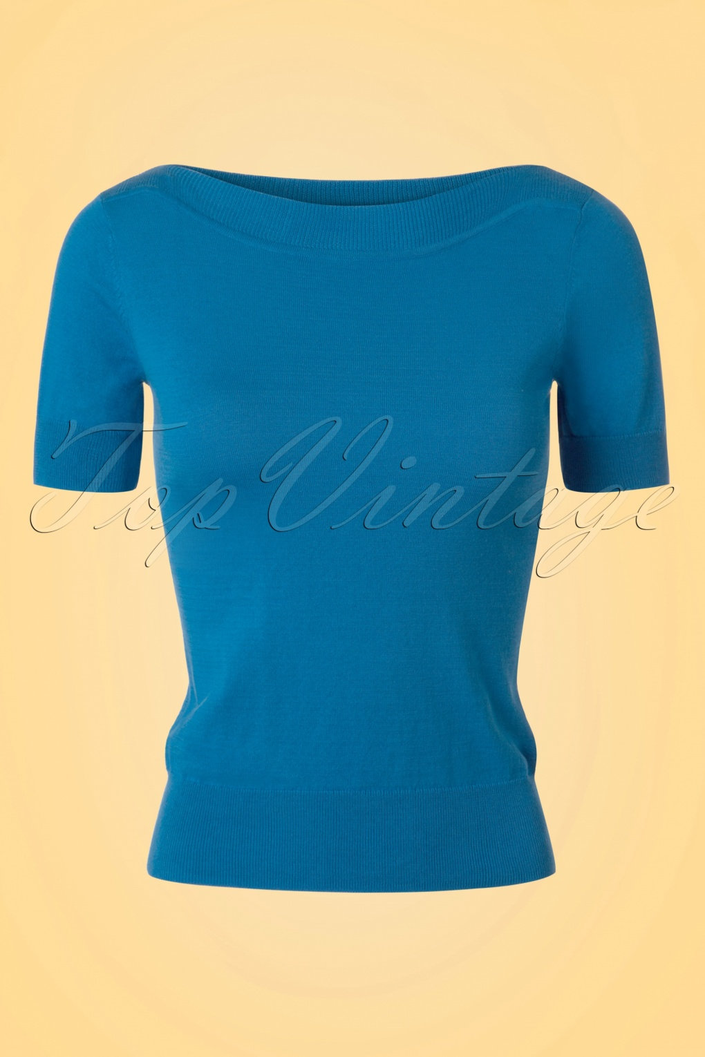 Shop 1960s Style Blouses, Shirts and Tops 50s Audrey Cottonclub Top in Blue Moon £52.08 AT vintagedancer.com