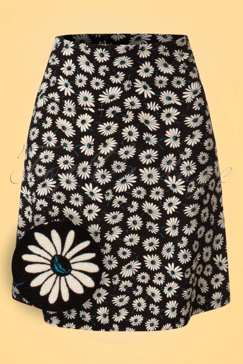 King Louie Border Skirt in Daisy Print 123 14 20281 20170213 0003W1